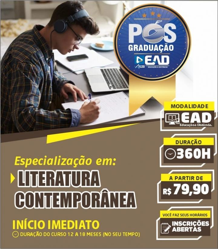 Especialização Docente em LITERATURA CONTEMPORÂNEA