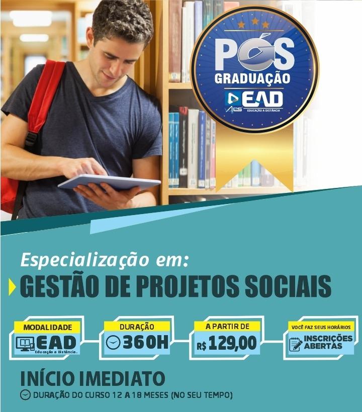 Especialização Docente em GESTÃO DE PROJETOS SOCIAIS