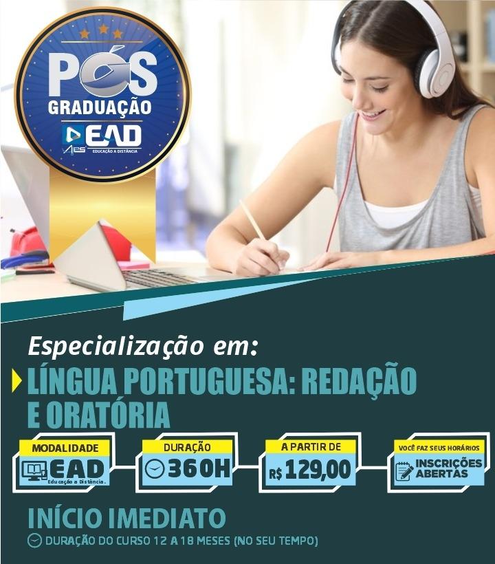 Especialização Docente em LÍNGUA PORTUGUESA: REDAÇÃO E ORATÓRIA