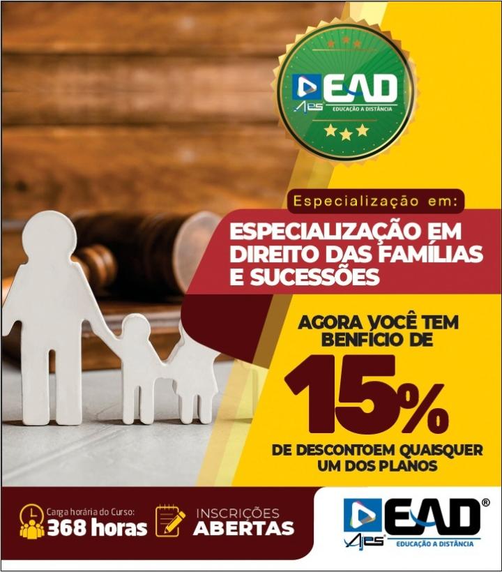 Especialização em Direito das Famílias e Sucessões