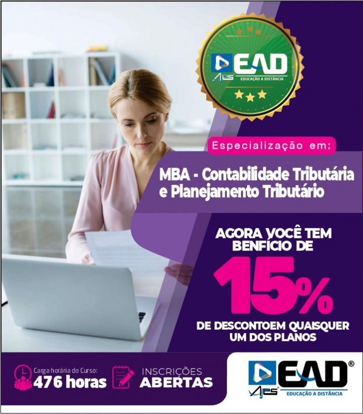 Especialização em MBA - Contabilidade Tributária e Planejamento Tributário