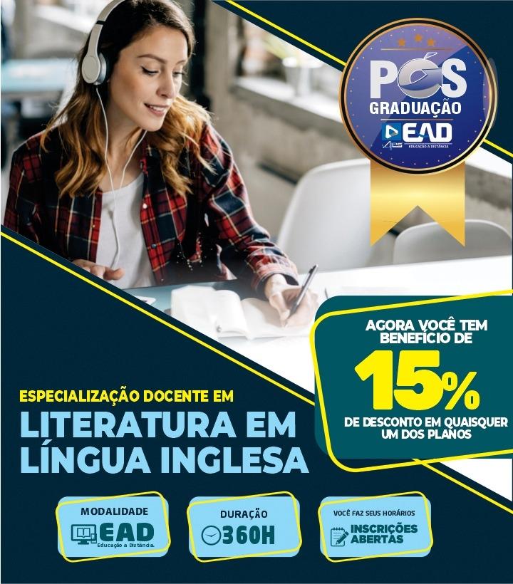 Especialização Docente em LITERATURA EM LÍNGUA INGLESA