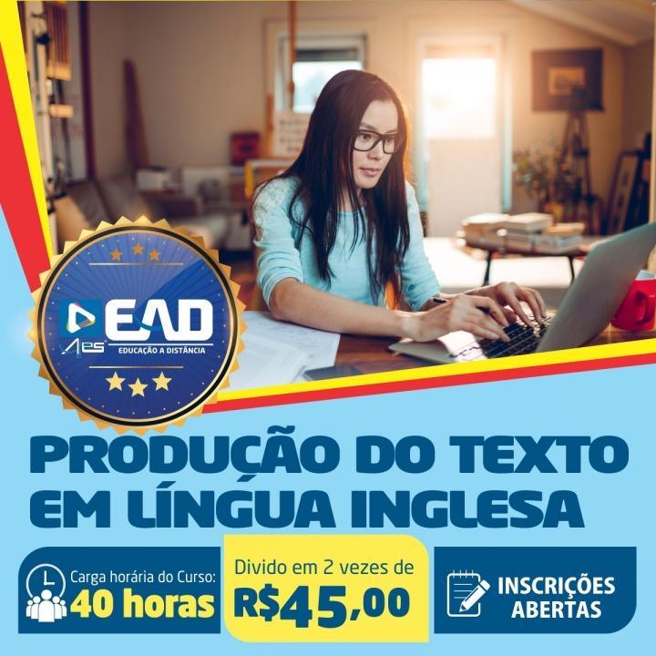 Curso de Extensão em Produção do Texto em Língua Inglesa
