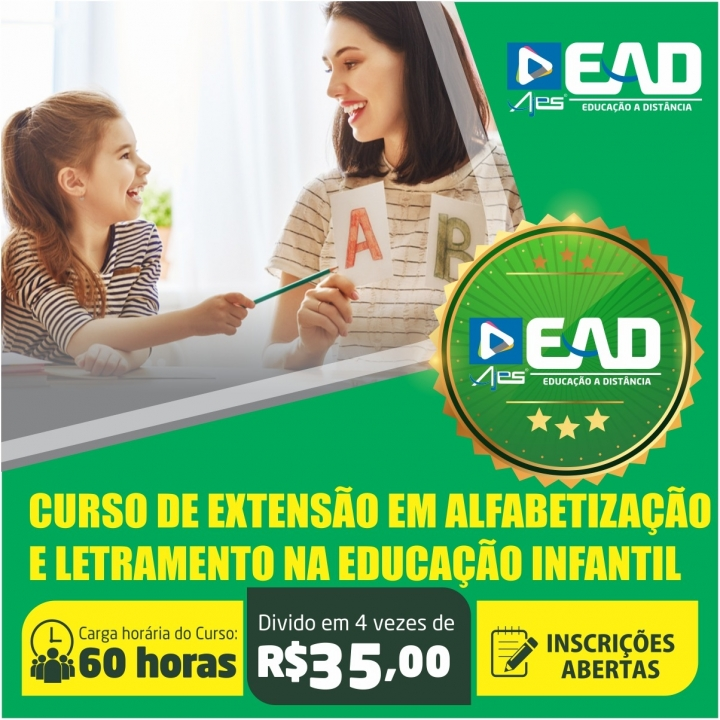 Curso de extensão em  Alfabetização e Letramento na Educação Infantil