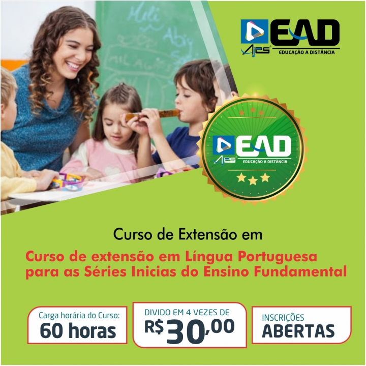 Curso de extensão em Língua Portuguesa para as Séries Inicias do Ensino Fundamental