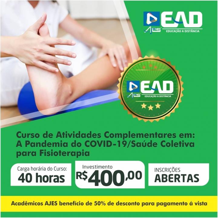 Curso de Atividades Complementares em: A Pandemia do COVID-19/Saúde Coletiva para Fisioterapia