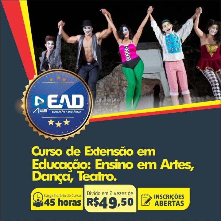 Curso de Extensão em Educação: Ensino em Artes, Dança, Teatro.