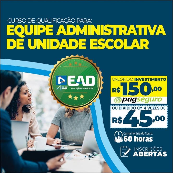 Curso de qualificação para Equipe Administrativa de Unidade Escolar
