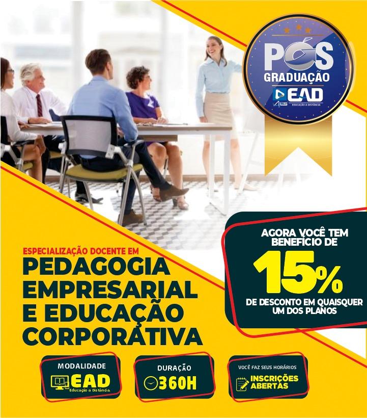 Especialização Docente em PEDAGOGIA EMPRESARIAL E EDUCAÇÃO CORPORATIVA